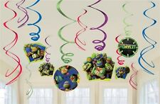 TEENAGE MUTANT NINJA TURTLES 12pc Swirl Decoration Birthday Party Supplies~