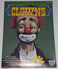 "1980 Craft Master #24003 Large CLOWNS ""Sad Sam"" Acrylic Paint By Number Unopened"