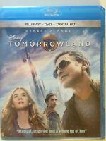 Tomorrowland (Blu-ray/DVD, 2015, 2-Disc Set,)(NEW) George Clooney