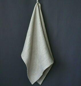 "100% Linen Bath Towel- Soft Waffle Natural (Gray) Linen Hand Towel 20x30"",16x28"""