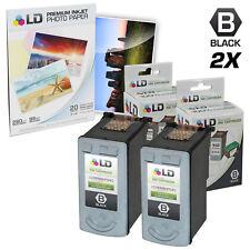 LD © Remanufactured Canon PG40 Set of 2 Black Inkjet Cartridges