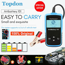 TOPDON AB101 12V Car Battery Tester Analyzer Cranking Charging Tool CCA 100~2000