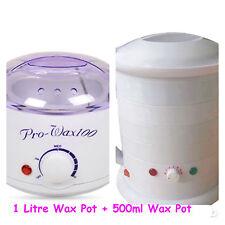 Wax Warmer Kit 1 Litre Wax Pot + 500ml Wax Pot Beauty Hairdresser Barber Compact