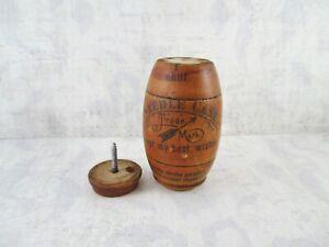 Vintage Wooden German Needle Barrel Holder - Needle Case