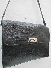 -AUTHENTIQUE sac à main type  malette  GIANFRANCO FERRE cuir TBEG vintage bag A4