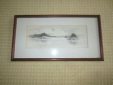 "Virginia Miller SEAGULLS on the LAKE Signed 17"" x 9"" Original Lithograph--Signed"