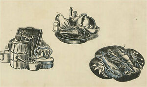Frederick P. Cooke (1896-1978) - Two Pen and Ink Drawings, Kitchen Still Life