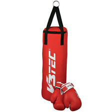V3Tec Boxsack Teens Kinder Boxset Boxsack mit Boxhandschuhen Fitness rot NEU