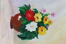 Quadro fiori con vaso - dipinto olio su tela MADE IN ITALY