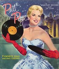 Vintage Uncut 1950S Patti Page Paper Dolls Hd Laser Reproduction~Lo Pr~Hi Qul