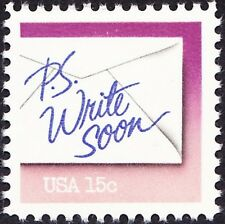 US - 1982 - 15 Cents PS Write Soon Letter Writing Commemorative Issue #1806 NH