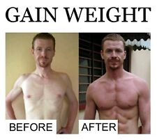 POWERFUL GAIN WEIGHT® GAIN MUSCLE 4 bottles FREE P&P worldwide £49.99