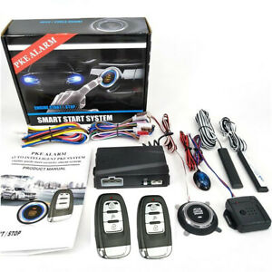Car Engine Start Keyless Entry Alarm System Push Button Remote Starter Stop Kit