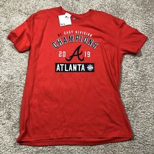NWT Atlanta Braves Majestic 2019 NL East Division Champions T-Shirt Red size XL