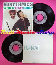 LP 45 7'' EURYTHMICS Who's that girl?Aqua 1983 france RCA PB 61417 no cd mc dvd
