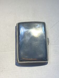 Antique Sterling Silver Cigarette Case Vintage Birmingham 1918 / WHS