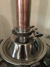 "Alcohol Distilling Moonshine Keg Column 2"" X 48"" Copper And Stainless Steel"