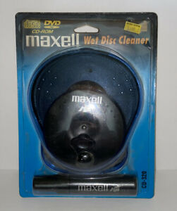 Maxell CD/CD-ROM Wet Disc Cleaner CD 320 Compact Disc NOS Sealed