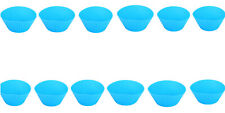 12x Blue Silicone Round Reusable Muffin Cases,Ideal Cupcakes,Muffins,Chocolate