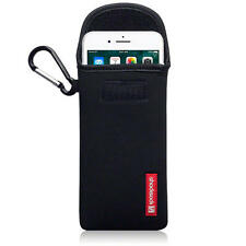 Shocksock Caso Sacchetto in neoprene con moschettone per iPhone 7 Nero-PLUS
