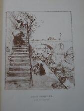 Auguste LEPERE (1849-1918) Litho ORIGINALE QUAIS PARIS BELLE EPOQUE PENICHE 1892