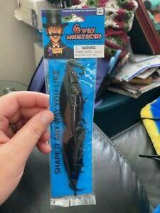 Deluxe Black Adjustable 6-Way BENDABLE Costume Moustache MUSTACHE New!!!