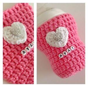 Baby Bottle Cover Personalised  Crochet Tommie Tippee/Mam/ Doctor Brown/ Avant
