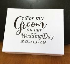 Personalised Groom Gift Box With Date/ Groom Wedding Box / Groom To Be Gift Box