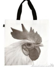 CHICKEN shopping tote carrier gift bag for life print 2 sides HEN POULTRY lover