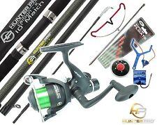 Complete Starter Fishing Kit Set. HUNTER PRO Carbon 10' Rod Reel Tackle Rod Rest
