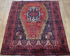OLD WOOL HAND MADE PERSIAN ORIENTAL FLORAL RUNNER AREA RUG CARPET 192x125CM