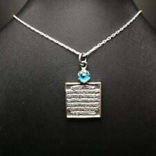 925 Sterling Silver Ayatul Kursi Necklace, islamic muslim eid gift Nazar islam