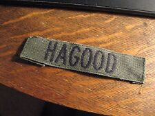 Hagood Patch - USA Army American Military Embroidered Name Jacket Shirt Patch