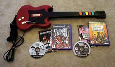 Controlador De Guitar Hero Y Juegos De 2x.. guitar Hero 2 y 3 para PS2 Playstation