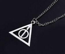 collier pendentif fixe Harry Potter triangle les Reliques de la Mort  60cm