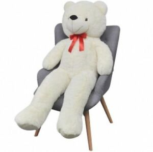 Life Size Teddy Bear White Soft Cuddly Toy Plush Perfect Gift XL Huggable White
