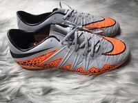 RARE Nike Hypervenom Phinish II SG Pro Soccer Cleats Mens sz 6.5 New Gray/Orange
