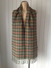 BARBOUR Scarf 100% Wool Plaid Check Soft Unisex Classic, REF Bar