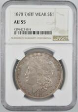 1878 7/8TF Weak Morgan Silver Dollar NGC AU 55 No Reserve Auction - .99C Open