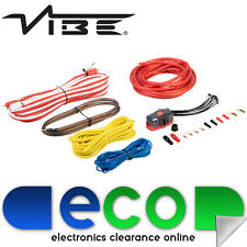 Vibe Critical Link 8 AWG Gauge 1500 Watt Power RCA Fuse Amplifier Amp Wiring Kit