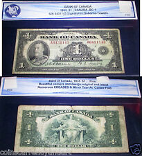 1935 Bank of Canada  $1  - CANADA BANKNOTE