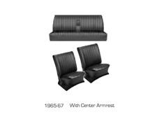 VW 65-67 Type 3 Fast/ Notchback TMI Seat Upholstery w/ Armrest Basketweave Vinyl