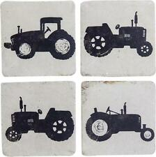 FARM TRACTORS Stoneware Coasters, Set of 4, by Manual