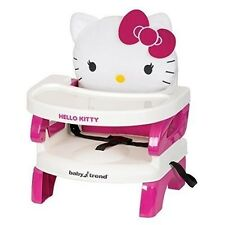 Hello Kitty Portable High Chair Seat Booster Girls Pink Baby Trend Feed Hook New