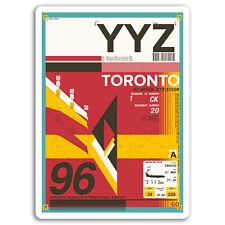 2 x 10cm Toronto Airport Vinyl Stickers - Canada Sticker Laptop Luggage #17132