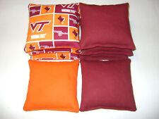 VIRGINIA TECH HOKIES BEAN BAG CORNHOLE BAGS VT 8 BAGS TAILGATE TOSS TOP QUALITY