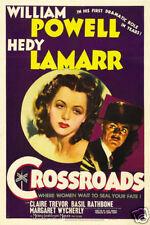 Crossroads Hedy Lamarr vintage movie poster