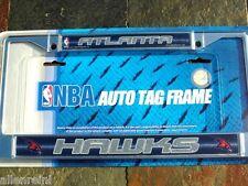 """1 Atlanta Hawks Chrome """"Bling - Glitter"""" Auto License Plate Frame"""