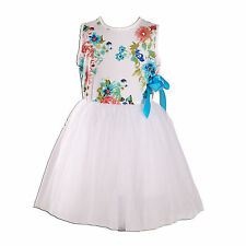 New Flower Girl Party Bridesmaid Wedding Pageant Dress in 9 Colours From 1-8Year