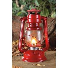 """12"""" Red Metal KEROSENE Hurricane LANTERN LAMP Camping, Patio, Emergencies *NEW"""